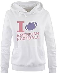 Comedy Shirts Print-Pulli Langarm Herren Hoodie Kapuze K/ängurutasche I Love American Football