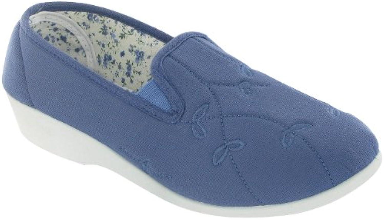 Mirak - Zapatos de loneta con Elásticos Modelo Bessier para Mujer (40 EU/Azul)