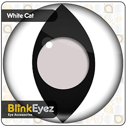 Kontaktlinsen Weiße Katze Kostüm - BLINKEYEZ® Erstaunliche