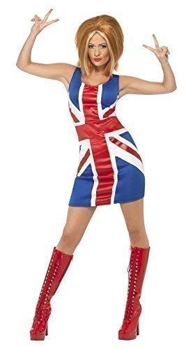 gwer Baby unheimlich sportlich Spice Girls 1990s Promi Henne Do Halloween Kostüm Kleid Outfit UK 8-18 - Ingwer, 16-18 (Sexy Promi Kostüme)