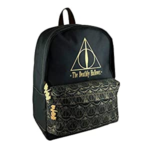 Groovy – Zaino Scuola Harry Potter, Deathly Hallows, Mochilas Unisex Niños, Multicolor (Multicolore), 15x22x38 cm (W x H L)
