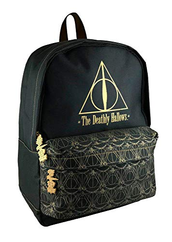 Groovy - Zaino Scuola Harry Potter, Deathly Hallows, Mochilas Unisex N