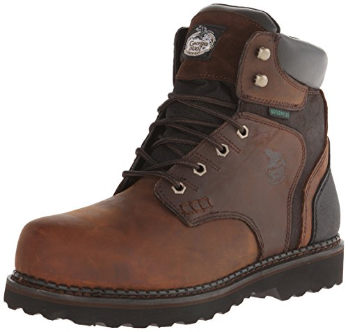 Georgia Boot Men's Brookville 6 inch Work Shoe Slip-resistant Steel Toe Wedges