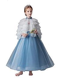 3b4289fd710a8 YONGMEI Filles Anniversaire Robe de soirée Robes et Costumes de soirée  Moelleux (Couleur   Bleu