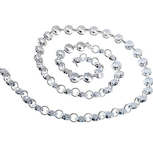 H&D 6ft Kristallglas klar Glitzernde Perlen Kronleuchter Kette