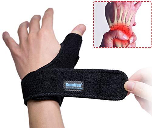 Sumifun - Muñequera para pulgar, pulgar y especias, soporte de muñeca, soporte para pulgar para la muñeca para mano derecha, dolor de pulgar de lesiones, tendinitis de muñeca