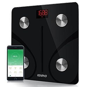 RENPHO Körperfettwaage Digital Personenwaagen Bluetooth Körperanalysewaage mit APP Smart Waage für Körperfett, BMI, Gewicht, Muskelmasse, Wasser, Protein, Skelettmuskel, Knochengewicht, BMR