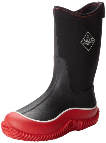 The Muck Boot Company Kids Hale Red/Black, The Original Neoprene lined wellie - for KIDS! Red/black