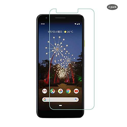 QULLOO für Google Pixel 3a Panzerglas Schutzfolie, [2 Stück] Google Pixel 3a Panzerglasfolie 9H Härte Folie Glas Anti-Kratzer Schutzglas Ganzkörper Bildschirmschutzfolie für Pixel 3a