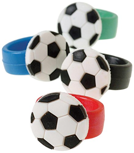 Kostüm Des Gewinner - Soccer Rubber Rings (Pack of 12)