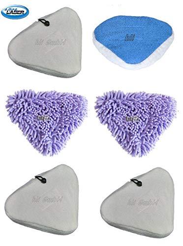 6 Bezüge Ersatztücher für Aqua Laser Gold / Bodentücher aus Mikrofaser
