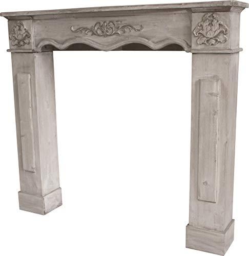 Marco de madera para chimenea, blanco