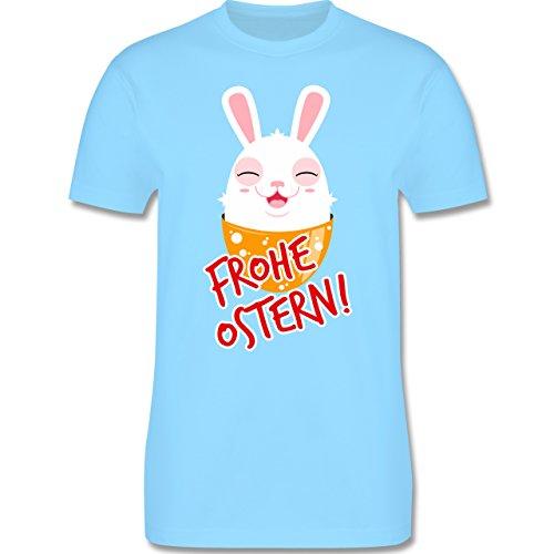 Ostern - Frohe Ostern - Osterhase - Herren Premium T-Shirt Hellblau