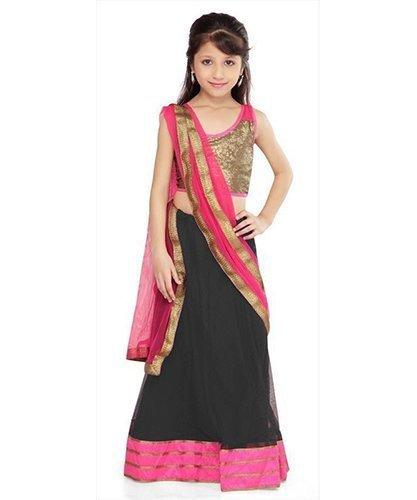 Dipak Fashion Kids Net Semi-Stiched Lehenga Choli  available at amazon for Rs.199