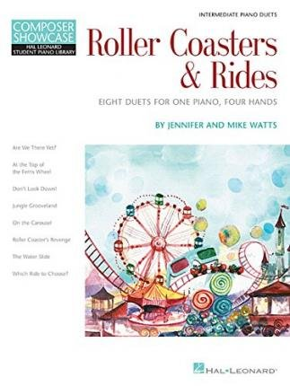 [(Roller Coasters & Rides: Eight Duets for 1 Piano, 4 Hands Composer Showcase Intermediate Piano Duets)] [Author: Jennifer Watts] published on (December, 2014)