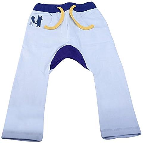 Origany Baby Boys' Peek-A-Boo Fox Fleece Pants 12-18 Months Grey