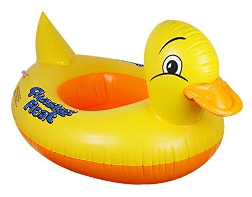 V-SOL Flotador para Bebés con Asiento de Juguete Piscina Niños Modelo Pato Amarillo