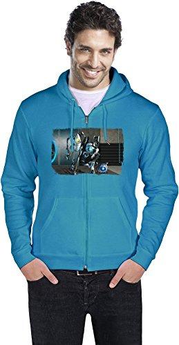 Portal 2 Robot Team Männer ReißverschlussHoodie Large