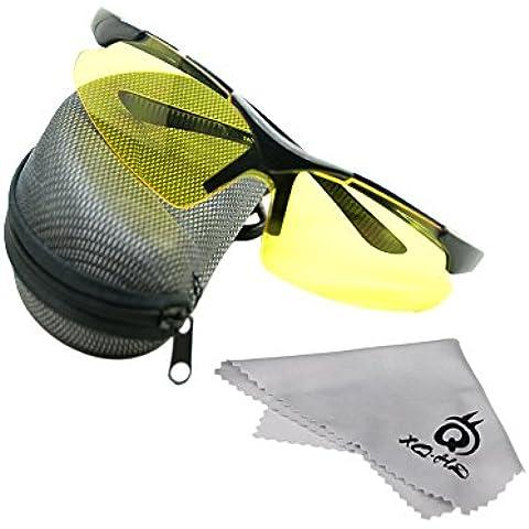 leryjoy (TM) UK Outdoor Sport Ciclismo occhiali da sole occhiali di sicurezza Occhiali per bicicletta equitazione pesca universale glasses-yellow