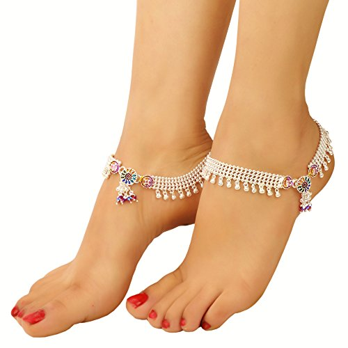 womens gold beach ankle foot itm boho chain silver for beads bracelet women anklet sterling
