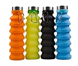 PESCA Silicone Portable Leak Proof Foldable 450ML Water Bottle