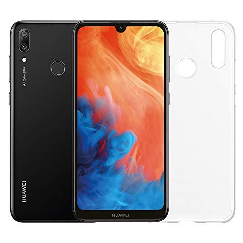 huawei y7 2019 (nero) più cover trasparente, telefono con 32 gb, display 6.26 full hd+, doppia fotocamera posteriore 13+2 mpx, processore octa core dinamico [versione italiana]
