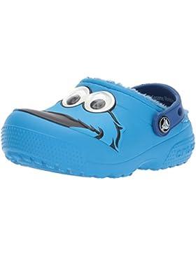 Crocs Unisex-Niño Divertido Lab Barbuda Forro Cookie Monster Zuecos Zapatos