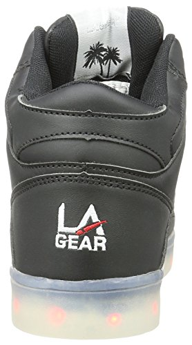 L.A. Gear Flo Lights Ii, Chaussons montants femme Schwarz (black - wht outsole)