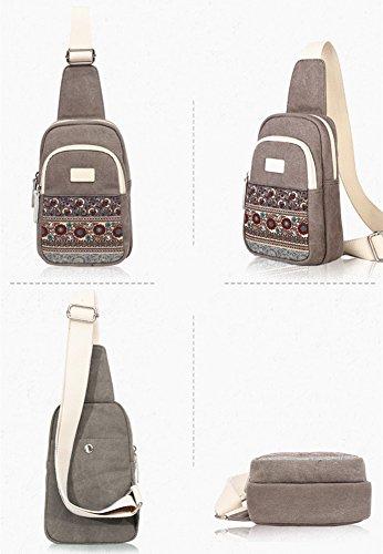 BLOOMSTAR , Borsa Messenger , Grau (grigio) - TP0202 Rot