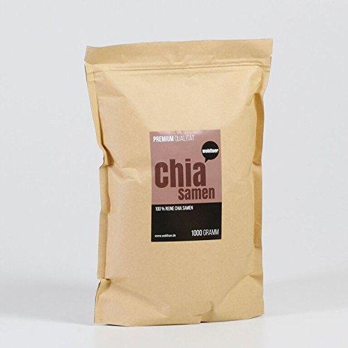 Wohltuer Chia Samen in Premium Qualität, 1kg