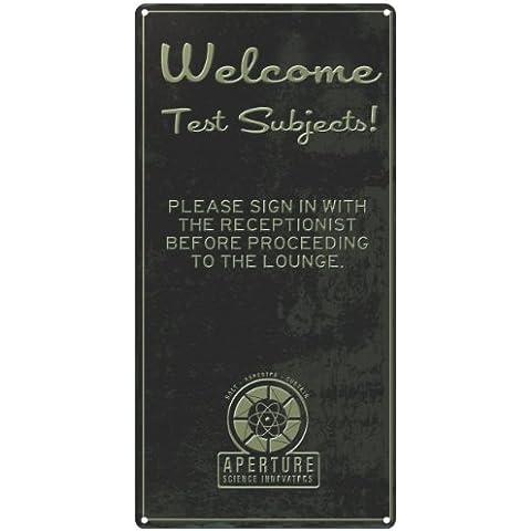 Portal Bienvenidos Estaño Wall Sign