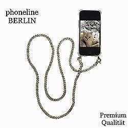 phoneline Berlin Handykette MIT für iPhone 6 / 6s mit Hülle Exklusive Hochwertige Designer Bronze - Kette Handyhülle mit Band Kordel Necklace zum Umhängen
