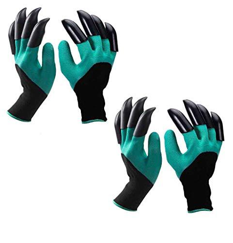 eiito 2 x Garten Handschuhe, Größe L-XL-XXL 7.5-9