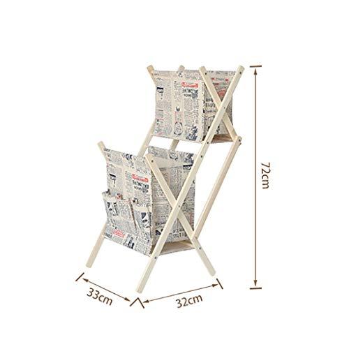 BYZ Wohnmöbel Ablagekorb Gefaltet Doppel Leinen Tuch Wohnzimmer Finishing Racks Ablagekörbe Zeitungen Zeitschriften Buch Kleidung Spielzeug Ablagekörbe,ich