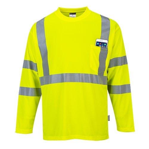 Portwest S191yer4X L pour homme Haute visibilité à manches longues Pocket T-shirt, Regular, taille 4x L, jaune