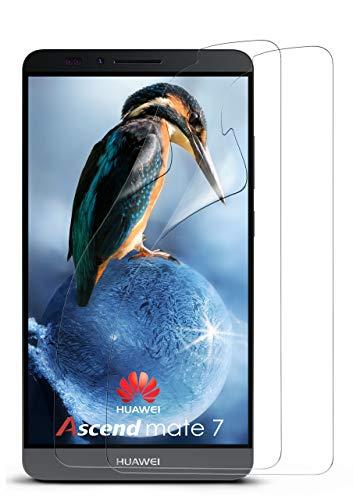 moex 2X Huawei Mate 7 | Schutzfolie Klar Display Schutz [Crystal-Clear] Screen Protector Bildschirm Handy-Folie Dünn Displayschutz-Folie für Huawei Ascend Mate 7 Displayfolie