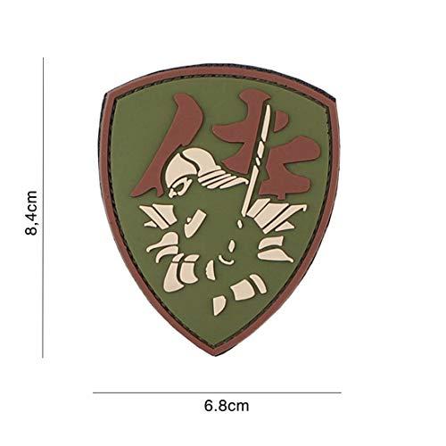 Tactical Attack Samurai Shield Multi #3119 Softair Sniper PVC Patch Logo Klett inkl gegenseite zum aufnähen Paintball Airsoft Abzeichen Fun Outdoor Freizeit