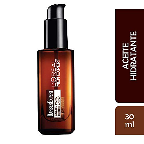 L'Oréal Paris Men Expert Barber Club Aceite Hidratante para Barba Larga y Rostro, 30 ml