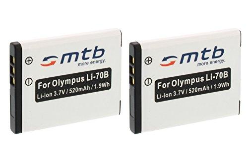 Polymer Li-ionen-pack (2x Akku Li-70b für Olympus VG-140, 150, 160... / D-710, 715... / FE-4040, 5040... (siehe Liste))