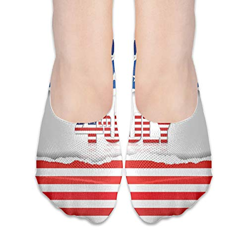 KKAIYA Women & Men Casual Low Cut Boat Sock invisible socks,American Flag Old Glory Design With Stars And Stripes Pattern Patriotic Image,Cotton Casual Athletic Socks,Multicolor - Old Glory American Flag