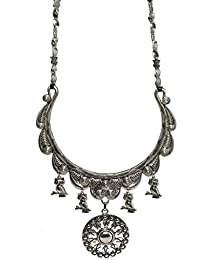 Aamoddhini Party Wear Western Fancy Designer Necklace Set For Women And Girls LN-72
