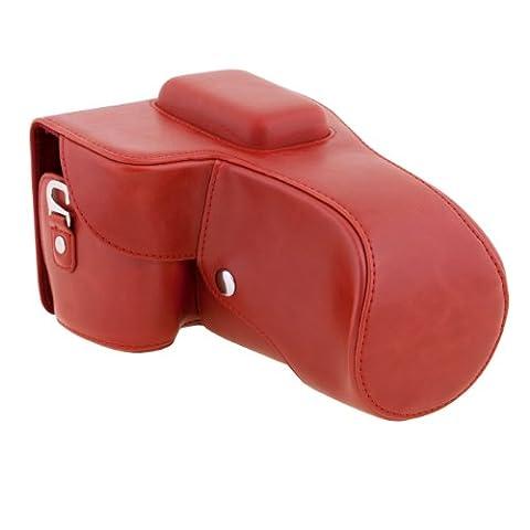 TARION OS03576-03 PU Leder Kameratasche für Nikon D5200/D5300 rot