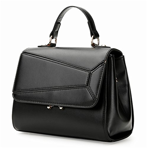 Xinmaoyuan Borse donna Ladies Splicing Borsetta tracolla Borsa Messenger Nero