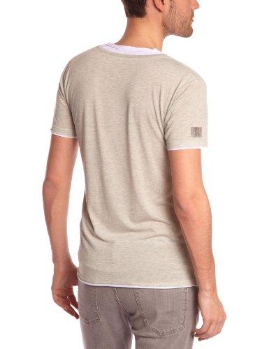 Eleven Paris Herren, T-Shirt, L2Basicdoublevss Grün (M120 Kaki Chiné)