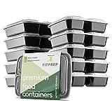FITPREP - DAS ORIGINAL 10er Pack 3-Fach Meal Prep Container Modell 2019 für Meal Prep empfohlen- inkl.Ebook Zertifiziert BPA frei stabil & verstärkt