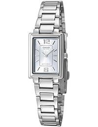 Casio LTP1238D - Reloj de pulsera mujer, acero inoxidable, color plateado