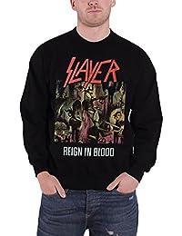 Slayer Classic Distressed Reign In Blood officiel Homme nouveau Noir Sweat-Shirt
