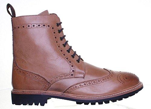 Reece Justin Dylan renforcées en cuir GoodYear mat pour chaussures Tan FA