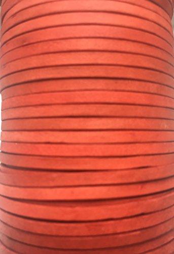 Plat 3 mm Qualité véritable vaches Cuir antique Rouge Cuir Cordon bijoux Cordon Corde de fil de filetage String, Cuir, noir vieilli, 5 Metre