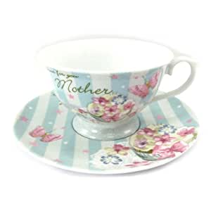 Tazza di porcellana 'Bouquet Romantique' per te mamma.
